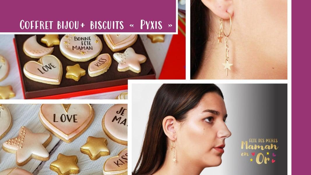 bijoux et biscuits coffret cadeau fêtes